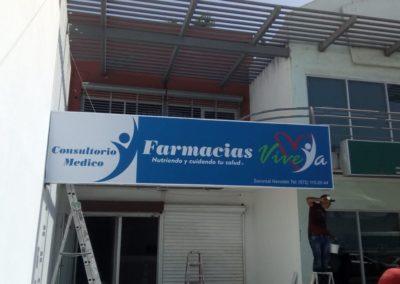 CAJA DE LUZ - LONA IMPRESA - FARMACIAS VIVE YA