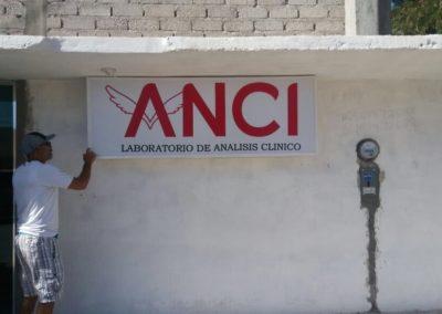 CAJA DE LUZ - LONA IMPRESA - LABORATORIO ANCI