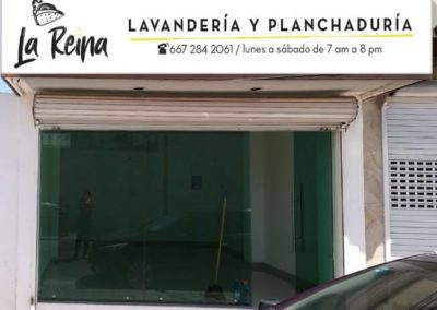 CAJA DE LUZ - LONA IMPRESA - LAVANDERIA LA REINA